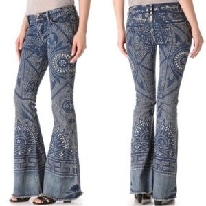 Free People Discharge Bali Flare Jeans 25